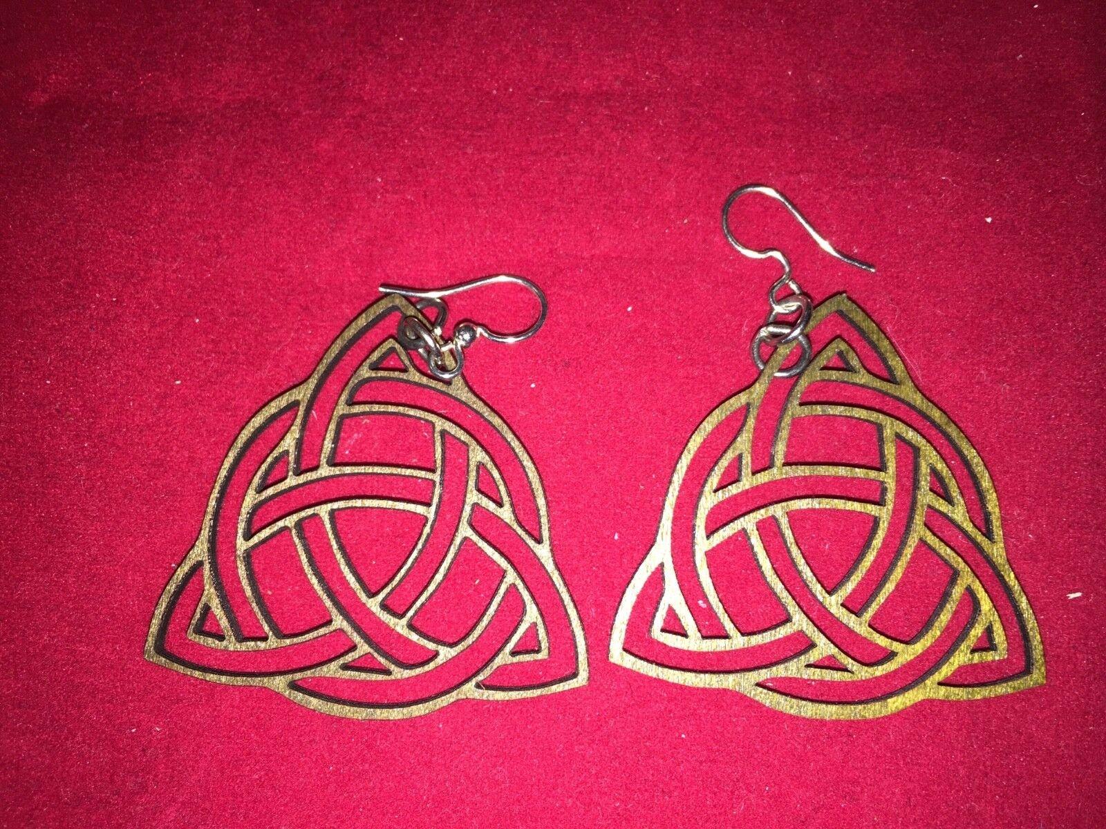 laser cut /& engraved wood lightweight dangle earrings boho chic flower fancy elegant drop wedding shower gift birch maple mandala earrings