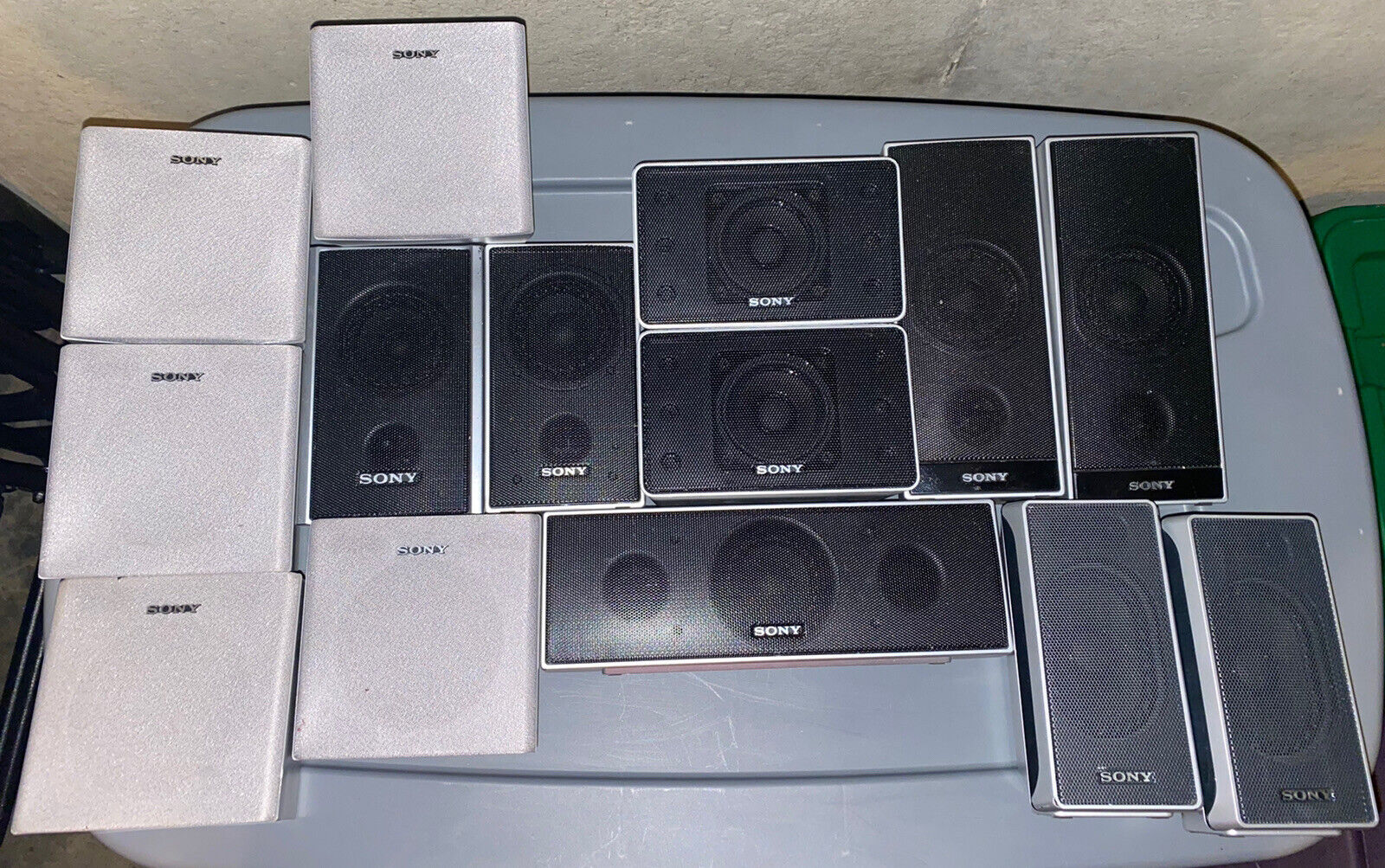 Sony Universal Surround Sound Satellite Stereo Speakers Lot Of 14 Tested/Works. Buy it now for 69.99