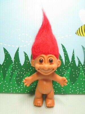 """RED HAIRED NAKED TROLL 5/"""" Russ Troll Doll NEW IN ORIGINAL WRAPPER"""