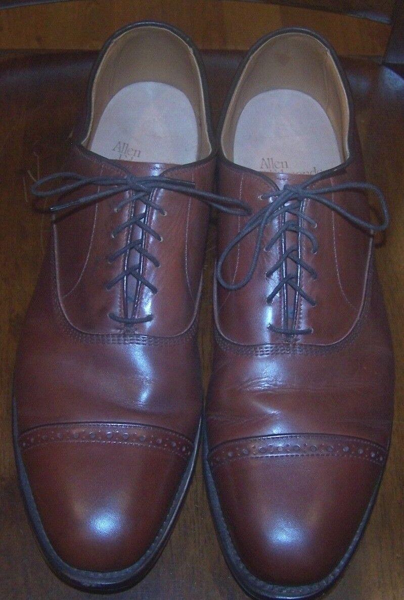 Allen Edmonds Byron Oxford Cap Toe Rossodish Brown Leather Dress Shoes Sz 14 A