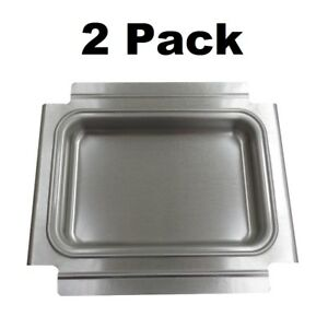 2 Genuine Weber 80346 Catch Pan Grease Tray Q100 Q120 Q140