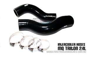 Triton-MQ-2-4l-Intercooler-hose-kit-Reinforced-Silicone-BLACK-turbo-diesel-2015