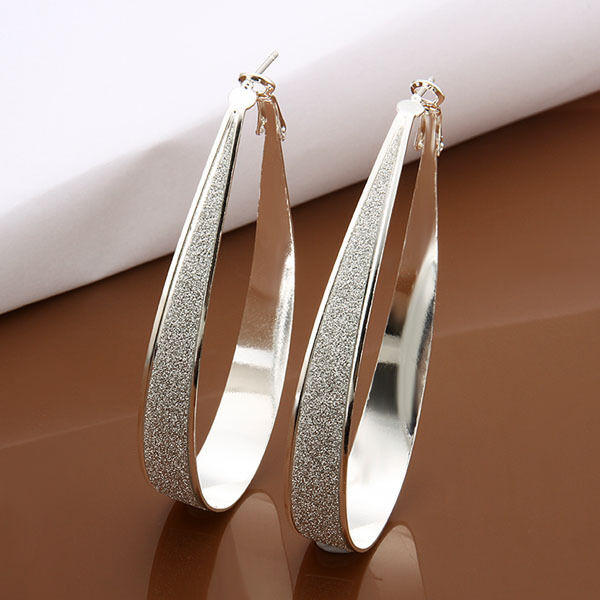Free Shipping Genuine Sterling Solid Silver Fashion Earrings E461