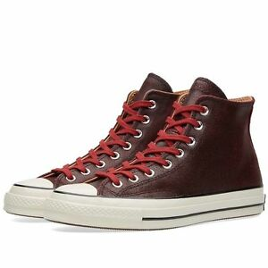 23577a9288ea41 NEW CONVERSE CHUCK TAYLOR 1970s HI PREMIUM CRACKED LEATHER BRICK 6 ...