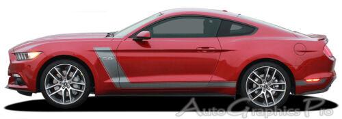 STELLAR2015-2017 Ford Mustang GT Racing Hood Stripes Side Kit 3M Wet Install