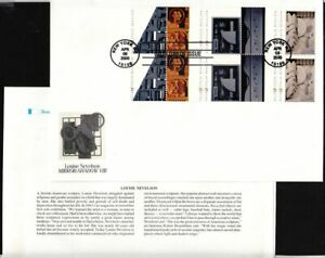2000-Louise-Nevelson-Sc-3383a-FIRST-DAY-COVER-Fleetwood