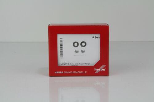 052016 //H10039 Hänger chrom//rot Nr Herpa Reifen für Auflieger