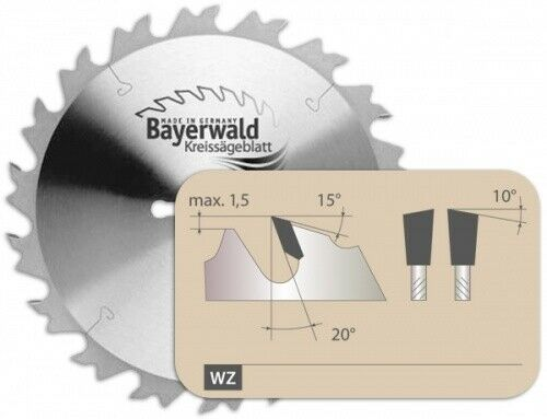 HM Kreissägeblatt - Ø 450 mm x 4 mm x 30 mm   Z=40 LWZ