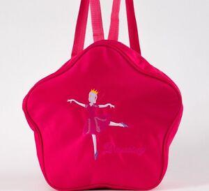 UK-SELLER-New-Xmas-Gift-Lovely-Girls-Rose-Star-BALLET-DANCING-bag-Backpack