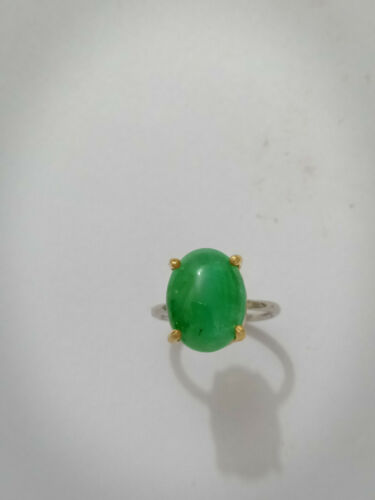 Details about  /Natural Emerald Gemstone Handmade 925 Sterling Silver Jewelry Stackable Rings