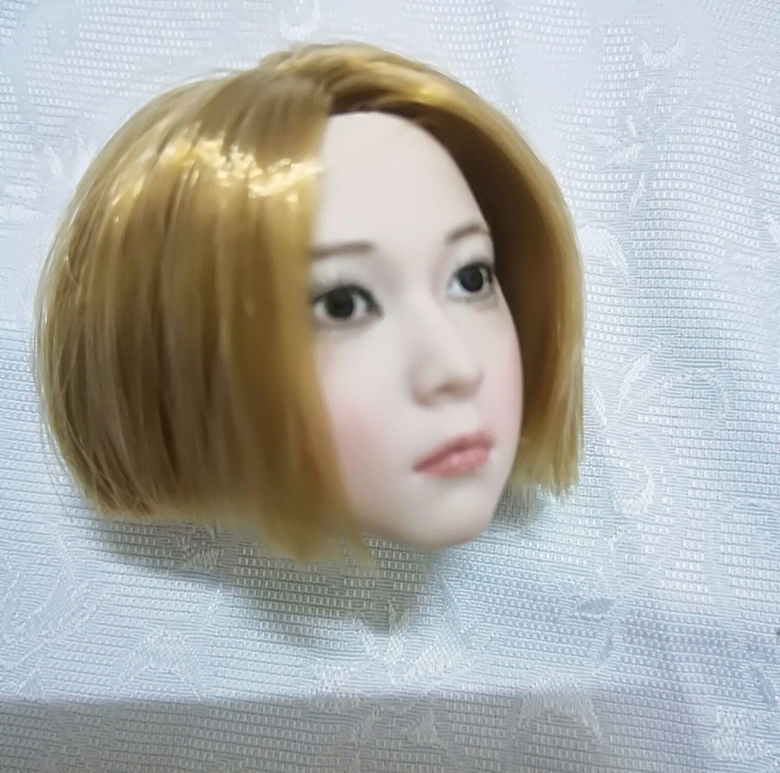 1   6 mädchen den kopf hauen modell kurze haare baby face f 12  action - figur körper