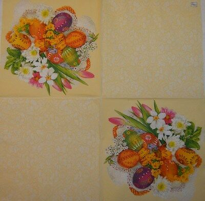 EASTER EGG PAPER TABLE NAPKIN FOR CRAFT VINTAGE DECOUPAGE TEA PARTIES 466