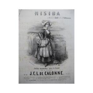 C L VertrauenswüRdig Calonne J Nisida Piano 1853 Partitur Sheet Music Score SorgfäLtige FäRbeprozesse