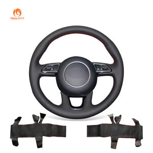 DIY-Hand-Stitched-Black-Leather-Steering-Wheel-Cover-for-Audi-Q3-Q5-2013-2015