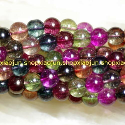 """10mm Colorful Tourmaline Round loose Beads 15 """""""
