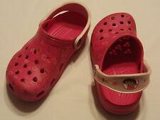 Kids Girls Pink Dora The Explorer Dance CROCS Shoes Water Beach Sandals Size 4