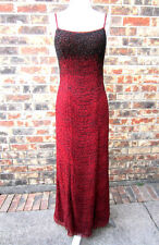 BEAUTIFUL MIA BELLA HEAVY BEADED RED & BLACK GOWN DRESS SIZE SMALL (5/6)
