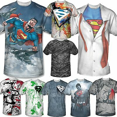 Men's Adult Licensed Marvel DC Comic Book Tee T-shirt Short Sleeve Superman Logo