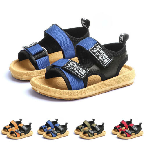 Latest Toddler Children Boys Beach Patchwork Sandals Sneaker Casual Single Shoes