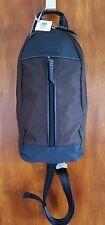 COACH F70692 Men's Brown Varick Nylon Sling Bag 3H00067628 Ipad Tablet Bag NWT!