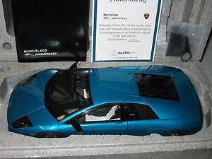 1 12 Autoart Lamborghini Murcielago In Turquoise Teal 40th