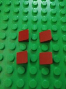 LEGO Lot of 4 Dark Red 2x4 Creator Roof Slope Pieces