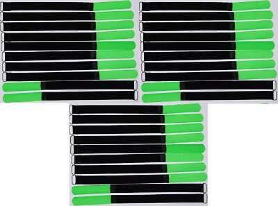 30x Kabelklettband 30 Cm X 20 Mm Neon Grün Klettband Klett Kabel Binder Band Öse