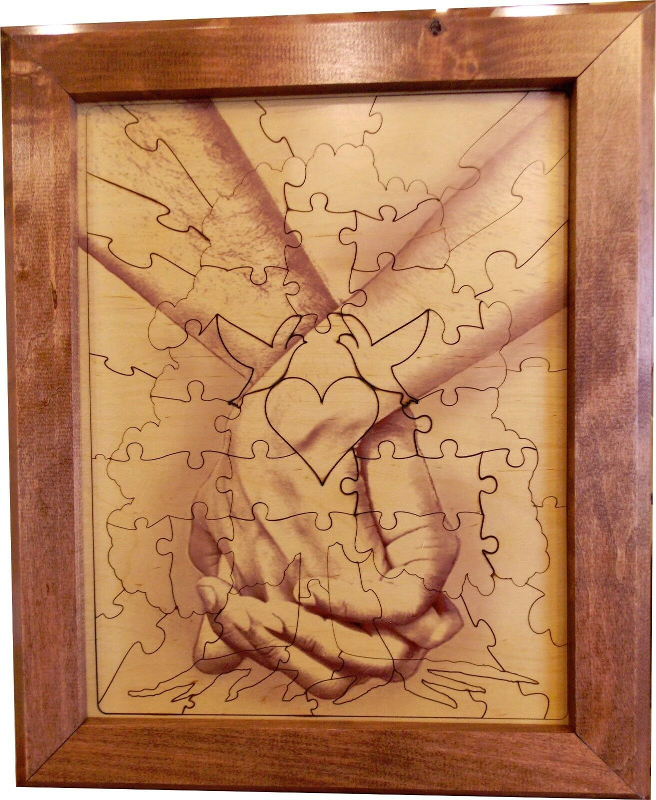 Wedding Guest Book Alternative Wood Puzzle Together Forever Tree Tree Tree Hand n Hand 75p a559bf