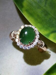 Glassy-Ice-Dark-Green-Burmese-Jadeite-Jade-Ring