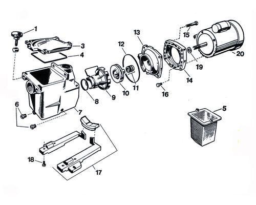 Hayward Self-Priming Super-Size Pump Spare Parts SP1611XE161