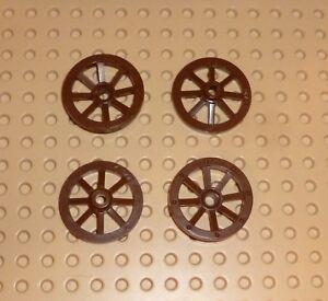 Lego-Roue-de-wagon-Small-27-mm-D-Brown-x-4-2470-TW55