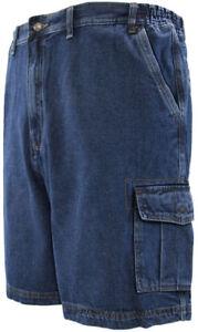 Big-amp-Tall-Men-039-s-Denim-Cargo-Shorts-by-Full-Blue-Sizes-44-72