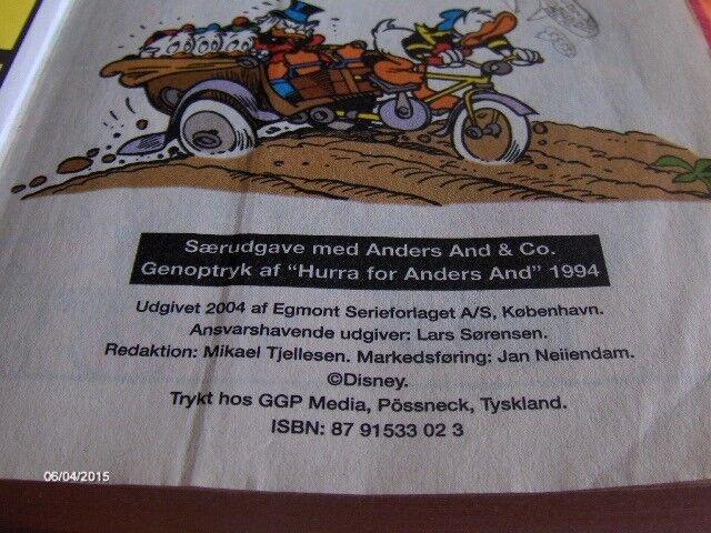 Jumbobøger, ANDERS AND - HURRA FOR ANDERS, SÆRNUMMER