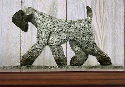 Kerry Blue Terrier Wood Welcome Outdoor Sign