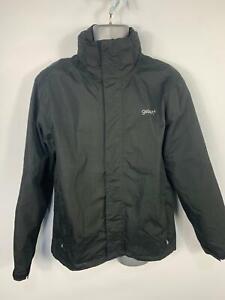 Homme-Gelert-Outdoors-noir-poids-leger-Casual-capuche-manteau-de-pluie-veste-taille-L
