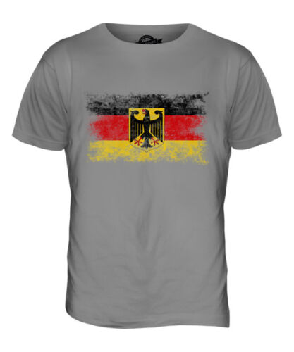 GERMANY STATE DISTRESSED FLAG MENS T-SHIRT TOP DEUTSCHLAND FOOTBALL GERMAN SHIRT
