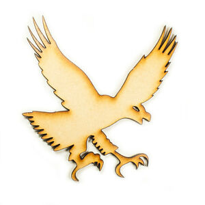 Raw-MDF-Wood-Wooden-Shape-Shapes-Eagle-Cutout-Craft-Home-Children-Room-Decor
