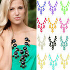 Fashion 12 Colors New Women Bubble Bib Statement Chain Necklace HOT