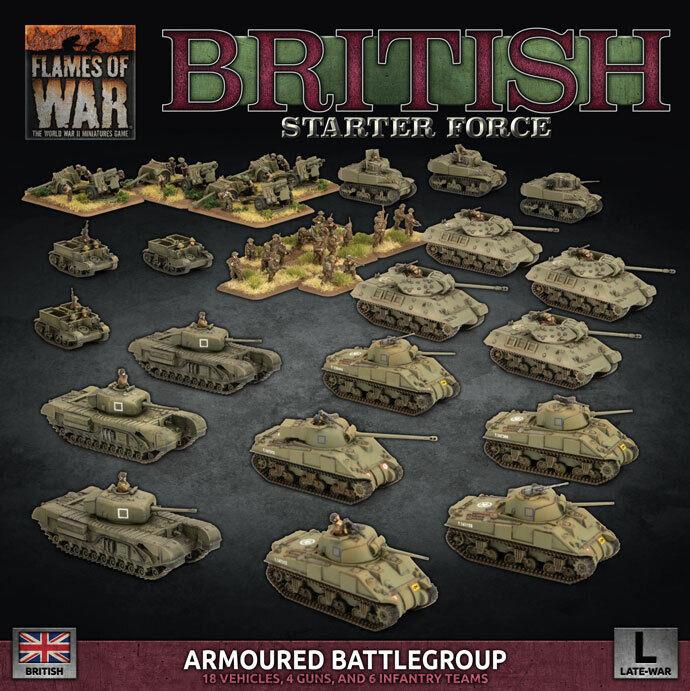 Llamas de la guerra británico blindado una Agrupación Táctica Ejército Deal (plástico) BRAB 12
