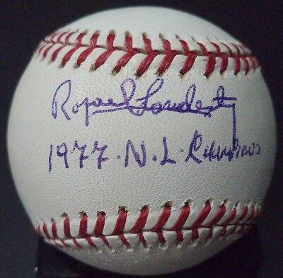 Baseball W/coa Rafael Landestoy 1977 N.l Champions Signed Autographed N.l