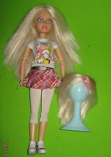 Liv Doll by Spin Master 2009 blue eyes -2 Blond Wigs-Wig Stand- Clothes & Shoes