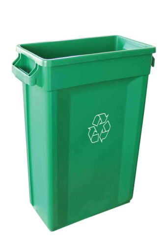 Recycling Container Slim Jim Green Bin with Logo 60L, 87L Litre Large