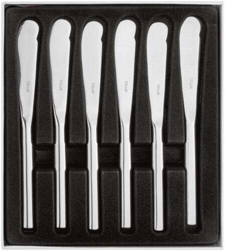 Stellar rochester tous poli couteau à beurre-set 6.//salle à manger vaisselle couverts.BL45