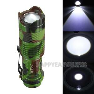 Image Is Loading 1200lm 7W CREE Q5 LED Zoomable Mini Flashlight