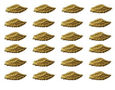 """10 Darice Soft Padded Fabric 3.5/"""" Gold Angel Wings Doll Making Craft Applique"""