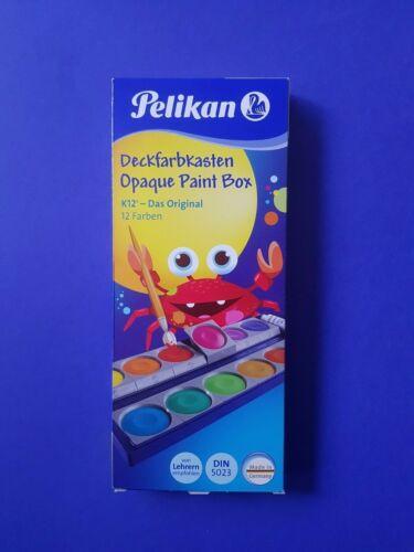 720250 Pelikan K12 Deckfarbkasten 12 er Wasserfarbkasten Wasserfarben NEU!