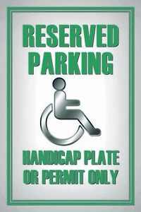 Reservered-Parking-Handicapped-Tin-Sign-Shield-Tin-Sign-20-x-30-cm-CC1017