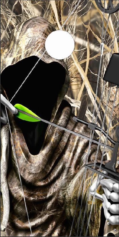 Bow Reaper Tallgrass Camo LAMINATED Cornhole Wrap Bag Toss Skin Decal