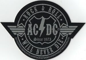 ACDC-AC-DC-Rock-N-Roll-Will-Never-Die-Cut-Out-Woven-Patch