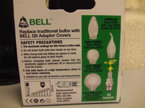 B15d HALOGEN BULB /& ADAPTOR  25w £9 del. THE CHEAPEST 2 x BELL G9 Capsule SBC